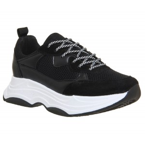 Office Fizzled Chunky Lace Up Trainers Trainers Flat D903073 GKNBSCH