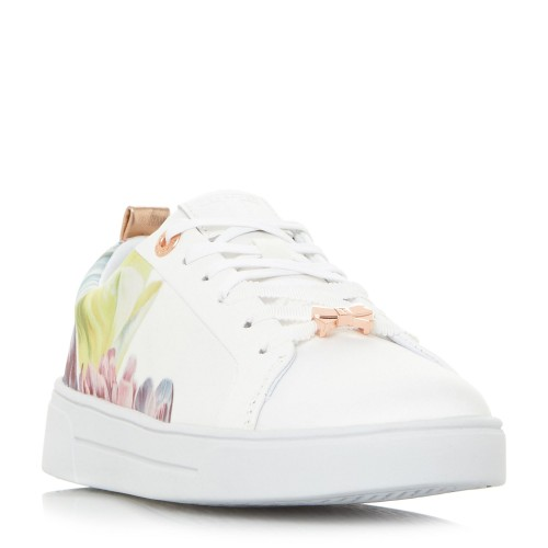 Ted Baker Ahfira 2 Blossom Print Lace Up Trainers Trainers Flat D927975 GJIBGYC