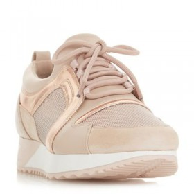 Women Dune - Natural 'Eavie' lace up trainers 56308_000043345 PIALLSY