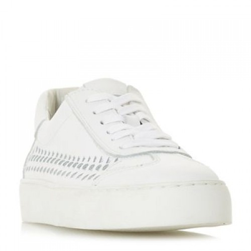 White leather 'Elurru' lace up trainers