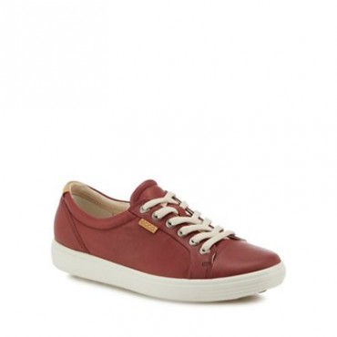 Women Ecco - Red leather 'Soft 7' trainers 0680103240 PWFYOMK