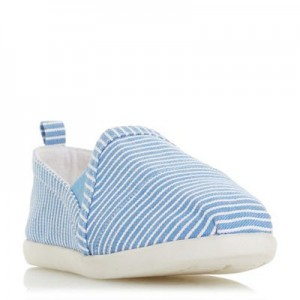 Women Head Over Heels by Dune - Blue canvas 'Eliah' slip on trainers 56308_000041950 YPMITFR