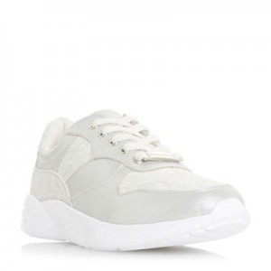 Women Head Over Heels by Dune - White 'Eamie' lace up trainers 56308_000048585 THFFJCW