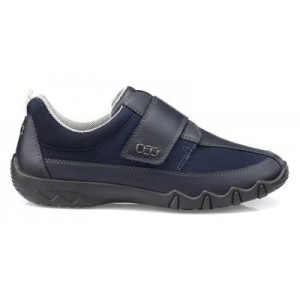 Women Hotter - Navy 'Nicole' wide fit casual trainers 64793_NCOLEE43 XPLMFRS