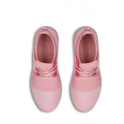 bcb131572ae Women Kurt Geiger London Linford Drench Lace Up Trainers Pink 15638556  ISAAMMB