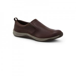 Women Lands' End - Brown wide everyday comfort slip-on trainers 61132_503608FBW VNSWHYF