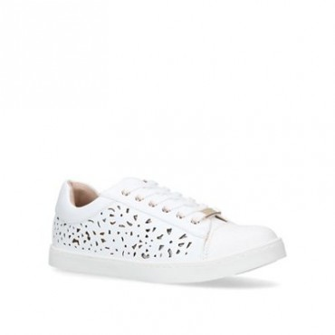 Women Miss KG - White 'Kelsie' low top trainers 58958_1504010979 WFHAYIO