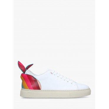 Women Paul Smith Basso Bunny Lace Up Trainers White/Multi Leather 15679789 NLAGNLE