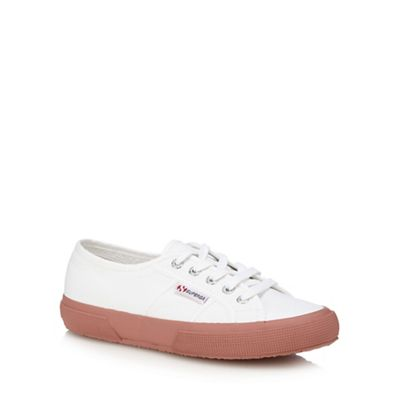 Women Superga - Rose canvas 'Cotu Classic' lace up trainers 0680103562 BOWHEAR