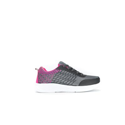 Women Wallis - Grey sport outsole lace up trainers 36194 828012003 WQUVXCE