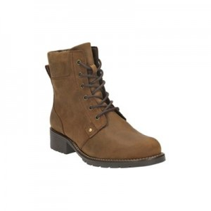 Women Clarks - Brown leather 'Orinoco Spice' lace-up boots 0680103051 LUINZDH
