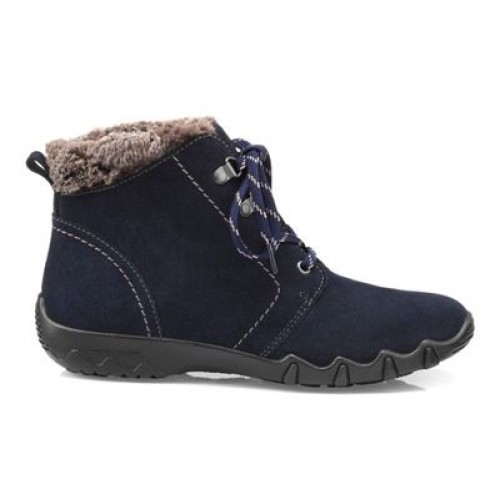 Women Hotter - Navy 'Ruby' wide fit ankle boots 64793 RUBYZE43 UKGFUJS