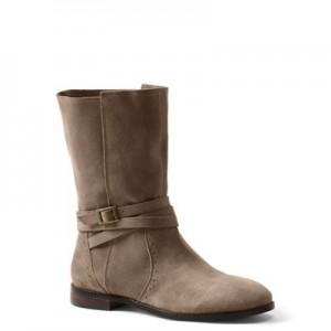 Women Lands' End - Brown suede slouch boots 61132_501806AJ2 BYYXUDX