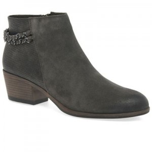 Women Marco Tozzi - Grey 'Carla' mid heeled ankle boots 60893_1042966901 YCQEBVD