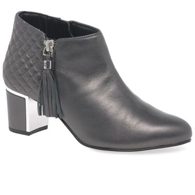 Women Van Dal - Grey leather 'Arial III' high heeled ankle boots 60893 1043117701 PLDXBAQ