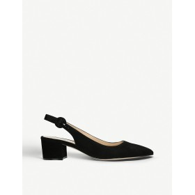 GIANVITO ROSSI Women Amee suede slingback courts Pin buckle fastening BLISHZS