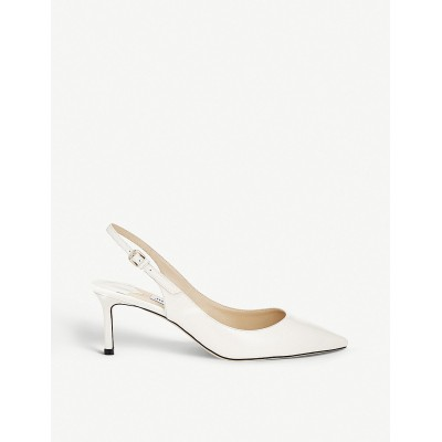 JIMMY CHOO Women Erin 60 patent-leather slingback courts NBVXRUL