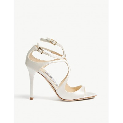 JIMMY CHOO Women Lang 100 patent-leather heeled sandals Buckle fastening LXLRDAY