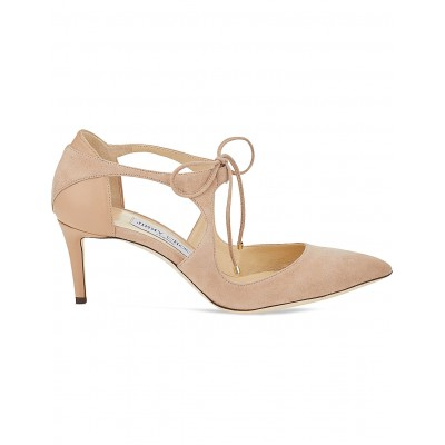 JIMMY CHOO Women Vanessa 65 suede and nappa-leather courts Self-tie fastening VXGRZIN