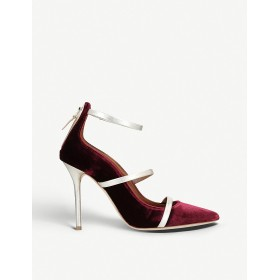 MALONE SOULIERS Women Robyn 100 velvet courts Zip fastening to the back HAZOCLU