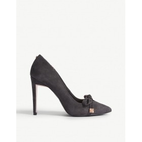 TED BAKER Women Gewell bow detail suede courts Slip on KYOIWOQ
