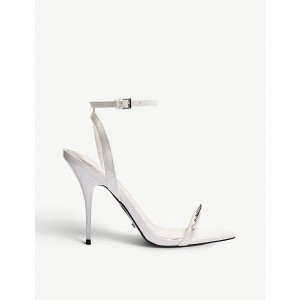 TOPSHOP Women Rica Two Part studded faux-leather sandals Buckle fastening ZJXTPFT