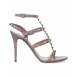VALENTINO Women Rockstud studded leather sandals Buckle fastening at ankle LNHCXSN