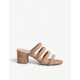 WHISTLES Women Amerie suede mules sandals Slip on AWOXKYQ