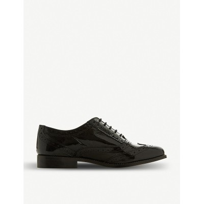 DUNE Women Florrence patent-leather brogues Lace-up fastening RACQRQZ