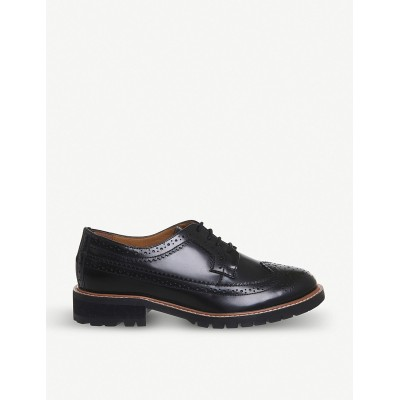 OFFICE Women Flag leather brogues Lace up FABUGMC