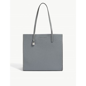 MARC JACOBS Women The Grind leather tote Carry handles three-compartment interior three slip pockets polished hardware logo lettering IBLNXIX