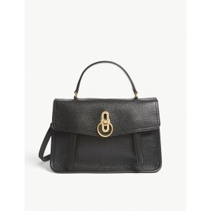 MULBERRY Women Gracy grained-leather satchel Turnlock fastening LVGBVIU