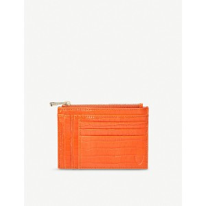 ASPINAL OF LONDON Women Double-sided saffiano-leather zip card holder Zip closure AOVMHHO