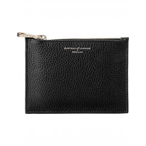 ASPINAL OF LONDON Women Essential small leather pouch Zip closure HODBZWO