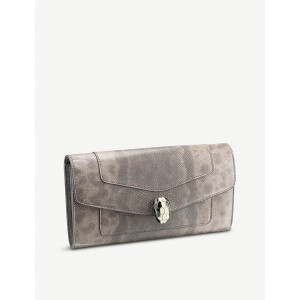 BVLGARI Women Serpenti Forever large leather wallet Fold-over stud fastening PLSWUZH