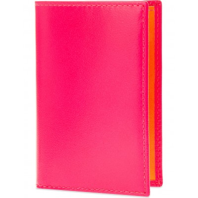 COMME DES GARCONS Women Fluoro leather card holder Super fluoro RAXEVWC