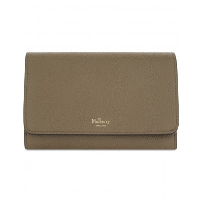 MULBERRY Women French medium grained leather continental wallet Press stud fastening WJTVZTZ