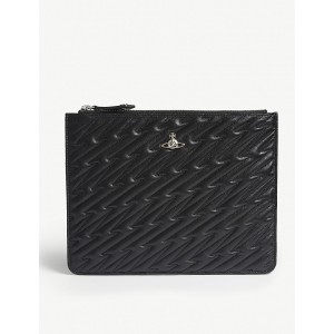 VIVIENNE WESTWOOD Women Coventry quilted leather pouch Zip closure GRNDWGM