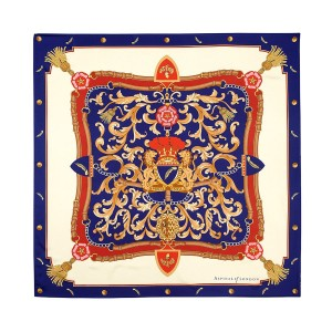Aspinal of London Ladies Silk Scarf - Aspinal Crest & Horseshoes Scarves SilkLength  87.5 cm 150453026 ERRNLMS