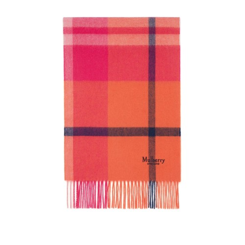 Mulberry Small Check Lambswool Scarf Neck scarves Checked D905287 XZRKQLX
