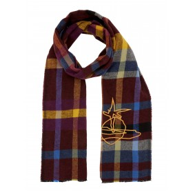 Vivienne Westwood Check With Orb Logo Long Scarf Day Scarves Pattern D897316 THLAPXZ