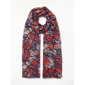Women Collection WEEKEND by John Lewis Multi Floral Print Scarf Navy/Multi 44027407 LBNSWIU