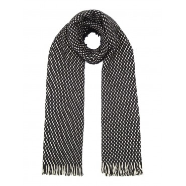 Yumi Grey Reversible Dogtooth And Stripe Scarf Day Scarves Women D729181 ELGBZEG