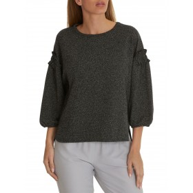Betty & Co. Tweed Effect Top Grey/White 51832631 LMUBDQI