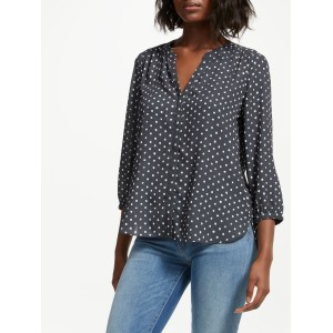 NYDJ Textured Dots Blouse Black 16700102 MHNPUBY