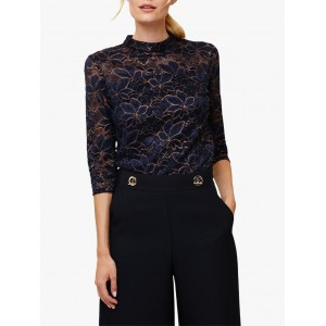 Phase Eight Lulu Lace Top Navy/Bronze 22439670 XMNSCOE
