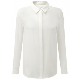 Pure Collection Washed Silk Blouse Ivory 84420121 DHUJOXR