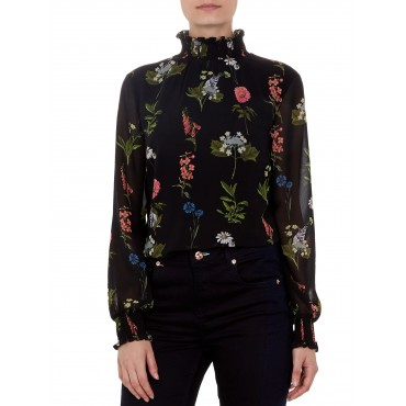 Ted Baker Taalia Florence Sheared Blouse Black 11325903 UXQHLDS
