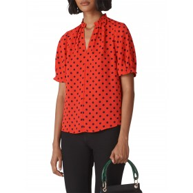 Whistles Molly Spot Print Top Red/Multi 12138827 PMXYITV
