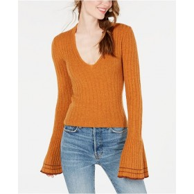 Free People Women May Morning Bell-Sleeve Pullover Sweater 7014645 GURRLGK